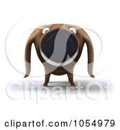 Royalty Free CGI Clip Art Illustration Of A 3d Happy Wiener Dog 1