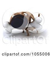 Royalty Free CGI Clip Art Illustration Of A 3d Wiener Dog Carrying A Bone 1
