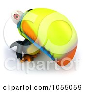 Royalty Free CGI Clip Art Illustration Of A 3d Toucan Bird