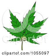 Royalty Free Clip Art Illustration Of A Pot Leaf