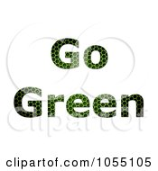 Royalty Free Clip Art Illustration Of Grid Textured Go Green Text