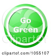 Royalty Free Clip Art Illustration Of A Green And White Go Green Button by oboy
