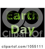 Royalty Free Clip Art Illustration Of Green Grass Ray Earth Day Text On Black