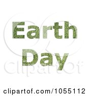 Royalty Free Clip Art Illustration Of Green Grass Textured Earth Day Text