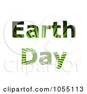Green Grass Ray Earth Day Text