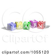 Royalty Free Vector Clip Art Illustration Of Alphabet Blocks Spelling LEARN