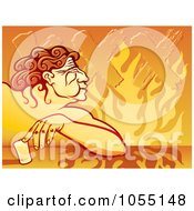 Royalty Free Vector Clip Art Illustration Of A Drunken Man Tipping A Glass Of Tequila by Any Vector
