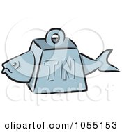 Royalty Free Vector Clip Art Illustration Of A Tuna Fish Weight by Any Vector