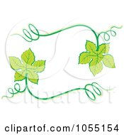 Royalty Free Vector Clip Art Illustration Of A Frame Of Grape Leaves by Any Vector