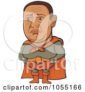 Royalty Free Vector Clip Art Illustration Of A Sad Super Hero Man by Any Vector