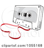 Royalty Free Vector Clip Art Illustration Of A Love Song Cassette Tape With A Heart by Any Vector