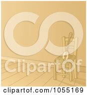 Royalty Free Vector Clip Art Illustration Of A Baglamas Resting On A Chair