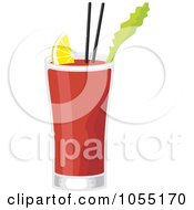 Royalty Free Vector Clip Art Illustration Of A Bloody Mary Cocktail