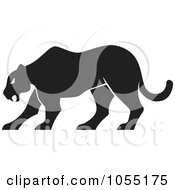 Royalty Free Vector Clip Art Illustration Of A Silhouetted Panther