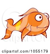 Royalty Free Vector Clip Art Illustration Of A Happy Goldfish by Any Vector