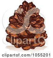Royalty Free Vector Clip Art Illustration Of A Pine Cone by Any Vector #COLLC1055201-0165