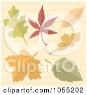 Royalty Free Vector Clip Art Illustration Of Autumn Leaves On Ruled Paper
