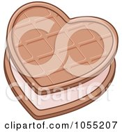 Royalty Free Vector Clip Art Illustration Of A Heart Biscuit by Any Vector