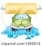 Happy Car In A Car Wash