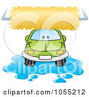 Royalty Free Vector Clip Art Illustration Of A Happy Car In A Car Wash