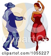 Royalty Free Vector Clip Art Illustration Of A Pair Of Flamenco Dancers by Any Vector