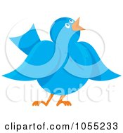Royalty Free Vector Clip Art Illustration Of A Communicating Blue Bird by Any Vector