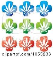 Royalty Free Vector Clip Art Illustration Of A Digital Collage Of Medical Marijuana Stickers by Any Vector