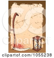 Royalty Free Vector Clip Art Illustration Of A Scythe And Hourglass by Any Vector