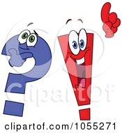 Royalty Free Vector Clip Art Illustration Of A Digital Collage Of Question Mark And Exclamation Point Characters