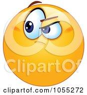 Royalty Free Vector Clip Art Illustration Of A Doubting Emoticon