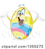 Royalty Free Vector Clip Art Illustration Of A Happy Easter Egg by yayayoyo