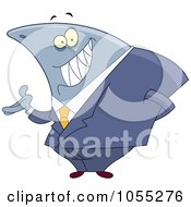 Royalty Free Vector Clip Art Illustration Of A Shark Businessman by yayayoyo