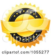 Royalty Free Vector Clip Art Illustration Of A Shiny Golden Guarantee Seal by TA Images