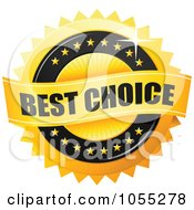 Royalty Free Vector Clip Art Illustration Of A Shiny Golden Best Choice Guarantee Seal by TA Images #COLLC1055278-0125
