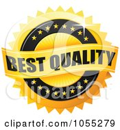 Royalty Free Vector Clip Art Illustration Of A Shiny Golden Best Quality Guarantee Seal by TA Images