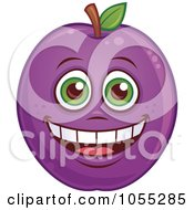 Royalty Free Vector Clip Art Illustration Of A Happy Pear Characters by John Schwegel