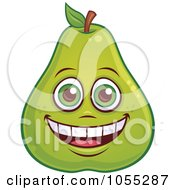 Royalty Free Vector Clip Art Illustration Of A Happy Pear Characters by John Schwegel #COLLC1055287-0127