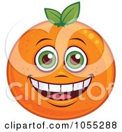 Royalty Free Vector Clip Art Illustration Of A Happy Orange Characters