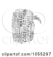 Royalty Free Clip Art Illustration Of A Gray Word Balloon Cogeneration Word Collage
