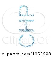 Royalty Free Clip Art Illustration Of A Blue CHP Cogeneration Word Collage