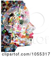 Royalty Free Clip Art Illustration Of A Womans Facial Profile Composed Of Pictures 1 by NL shop