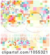 Royalty Free Clip Art Illustration Of An Abstract Background Of Colorful Pixels And Copyspace