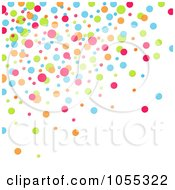Royalty Free Clip Art Illustration Of A Background Of Colorful Dots On White 1