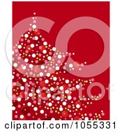 Royalty Free Clip Art Illustration Of A Confetti Christmas Tree On Red by NL shop