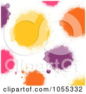 Royalty Free Clip Art Illustration Of A Background Of Colorful Painted Spots On White 2