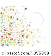 Background Of Colorful Dots Swirling On White