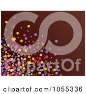 Background Of Colorful Dots On Brown 1