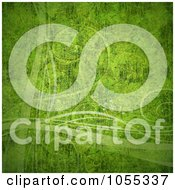 Royalty Free Clip Art Illustration Of A Grungy Green Textured Background With Curling Tendrils