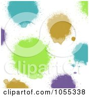 Background Of Colorful Painted Spots On White 4