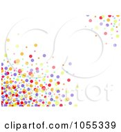 Background Of Colorful Dots On White 2